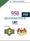 950 Math M [PPU_STPM] Semester 3 Topics-Syllabus