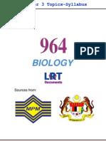 964 Biology [PPU_STPM] Semester 3 Topics-Syllabus