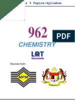 962 Chemistry [PPU_STPM] Semester 3 Topics-Syllabus
