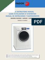 Fagor FA 5812 Installation and User Manual