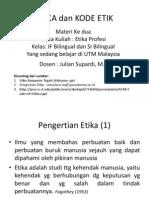 Etika Dan Kode Etik