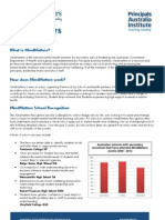 Mind Matters Fact Sheet 2013