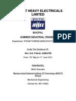 BHEL Bhopal STM Training Report