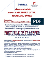 Deloitte Preturile de Transfer Anunt