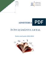 brosura finala admitere 2013