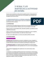 EL ESPACIO RURAL Y LOS CONDICIONANTES DE LA ACTIVIDAD AGRARIA EN ESPAÑA