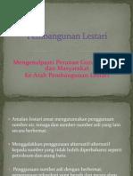 Peranan Ke Arah Pembangunan Lestari PPT