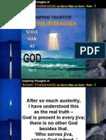 Inspiring Thoughts of Swami Vivekananda on Serve Man as God - Part - 1