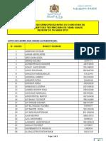 Resultats Des Epreuves Ecrits Tech 24-03-2013