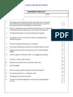 OP146 Bunkering Checklist
