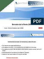 Borrador Renta 2008