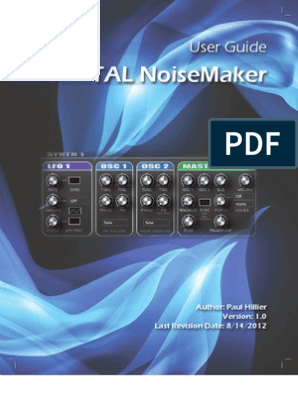 TAL Noisemaker User Guide 1 0 | Synthesizer | Electronics