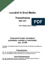Romanii Din Transilvania in Evul Mediu