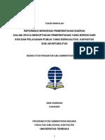 Makalah Tentang Reformasi Birokrasi Pemerintahan Daerah