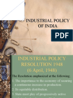 10060652 Ppt Industrial Policy of India