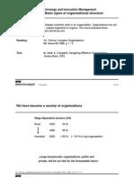 Basic Types of Organization