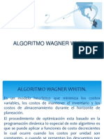 Algoritmo Wagner Whitin