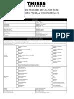 UG Application Form