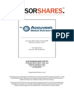 AdvisorShares Trust_ Prospectus Dated October 29, 2012 - Accuvest Global Opportunities ETF