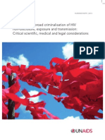 UNAIDS Ending overly-broad criminalisation of HIV non-disclosure, exposure and transmission