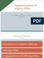 FPGA Implementation of Adaptive Filter