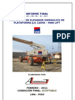 Informe Final de Ssk Manlift Jlg 120hx