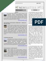 India Transport Portal Newsletter - April, 2013