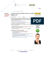 Asociar La Hoja de Estilos CSS Con Nuestra Pagina Web