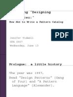 UPA2007 Designing Designing Interfaces