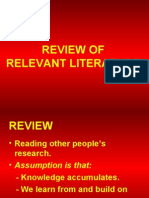 RM 4 Review of Literature