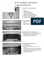 HP LJ 5000 Maintenance Kit Instructions