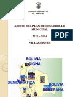 Ajuste Del Plan de Desarrollo Municipal 2010-2014 Villa Montes