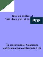 Misterul Catedralei Din Salamanca(Spania )