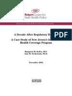 Case study; Individual Health Coverage NJ