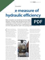 A True Measure of Hydraulic Efficiency