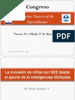 La inclusión de niños con NEE desde el aporte de la Inteligencias Múltiples Mario Morales