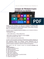 Windows 8 para dispositivos NO táctiles