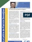 La lettre du député Patrick Devedjian mai 2013