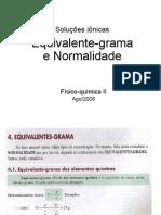 Quimica - Equivalente grama