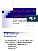 Quimica - Organica II Reação Eliminação