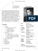Claude Shannon - Wikipedia, The Free Encyclopedia