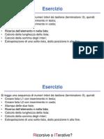 Esercizio - Liste