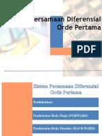 Sistem Pers. Diff. Orde 1