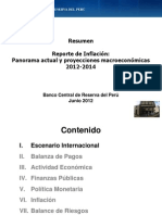 Reporte de Inflacion Junio 2012 Resumen