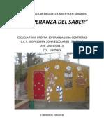Proyecto Escolar Biblioteca Abierta en Sabados