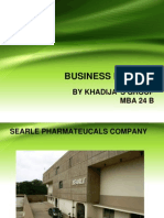 searle company ratio analysis  2010 2011 2012