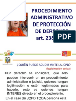 procedimiento administrativo JCPD