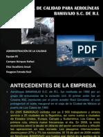 Manual de calidad para aerolíneas BAMAVAJO S