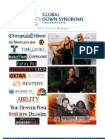 2012 Global Down Syndrome Foundation Press Clippings