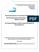 OpenMedia.ca/CIPPIC's Final Written Comments for CRTC 2013-106 (Bell's reattempted acquisition of Astral Media)